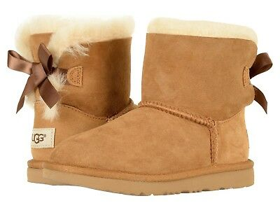 NEW KIDS GIRL WOMEN 2019 UGG BOOT MINI BAILEY BOW II CHESTNUT ORIG 1017397K CHE](Bailey Bow Kids Uggs)