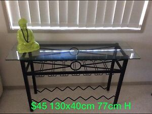 HALL TABLE / WINE RACK HOLDS GLASSES NEED GONE NOW TODAY Coombabah Gold Coast North Preview