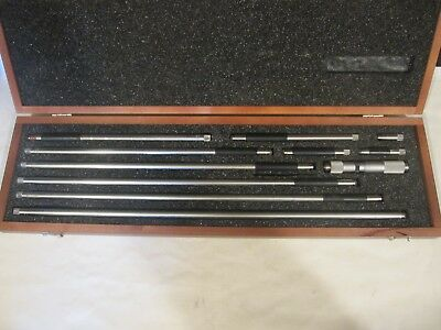 Starrett 823mez Inside Tubular Micrometer Kit 100-1000mm Wrenches Missing