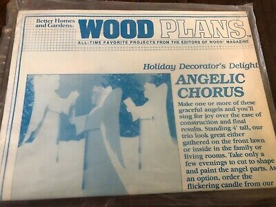 "BH&G Wood Plans Holiday Decorator's Delight "" Angelic Chorus "" Full Size Pattern for sale  Shipping to India"