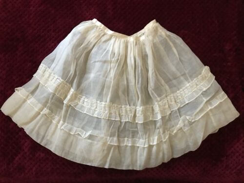 ANTIQUE Victorian Girl Underskirt with Valenciennes lace and flounces