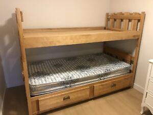 Wooden Captains Bunk Bed