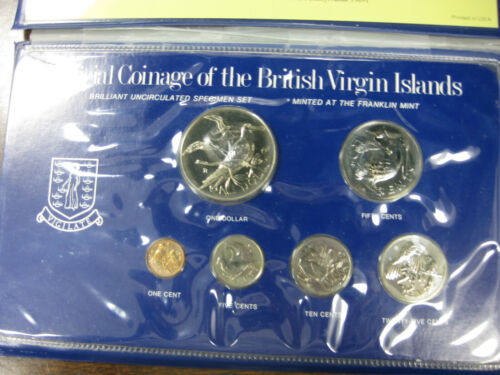 1978 Official Coinage of the British Virgin Islands ~BRILLANT UNCIRCULATED SET