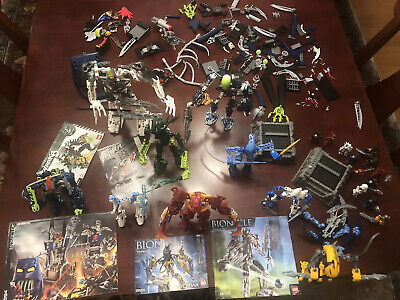 LEGO Vintage Lot Of BIONICLES, Accessories & Booklets LAVA Chamber Gate Takanuva