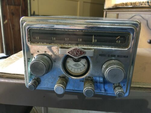 Vintage GONSET model G-66B , receiver , w/power supply ?  used
