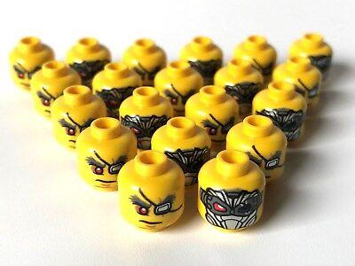 LEGO ®  20 x Kopf, männlich, beidseitig - Lego Kopf Maske