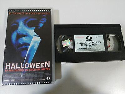 Halloween De Terror (HALLOWEEN LA MALDICION DE MICHAEL MYERS - VHS TERROR HORROR CASTELLANO &)