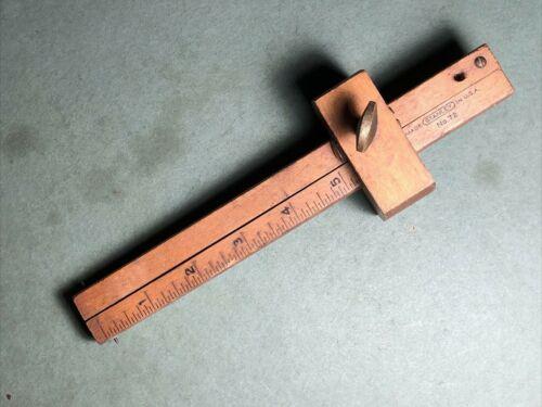 Vintage STANLEY   No 72   Wood Mortise Scribe Gauge Measuring Tool   USA