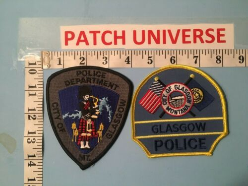 LOT OF TWO DIFFERENT GLASGOW MONTANA POLICE  SHOULDER PATCHES  J047