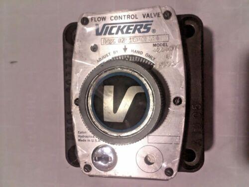 VICKERS FCG02150050 FLOW CONTROL VALVE FCG 02 1500 50 ASSY# 420607