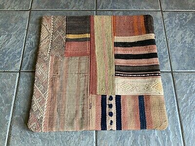 HAND MADE TURKISH PATCHWORK KILIMN CUSHION COVER