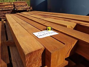 Hardwood Red Ironbark Posts Melbourne CBD Melbourne City Preview