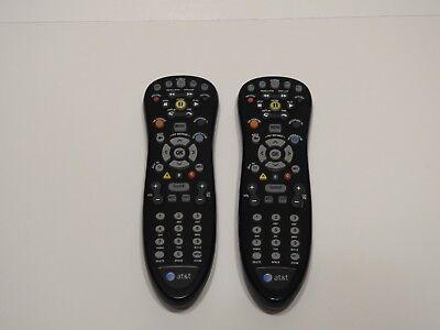 2 AT&T U-Verse Uverse Standard IR Infrared Multifunctional Black Remotes