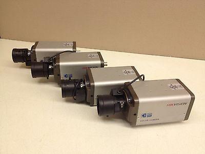 Lot Of 4 Hik Vision 540tvl Color Cctv Camera W 3.5-8mm Auto Iris Lens