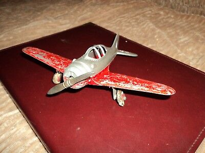 Vintage Toy Hubley Kiddie Toy US Army Airplane With Folding Wings