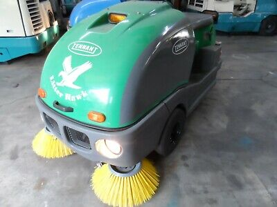 Tennant Litter Hawk Vac Sweeper 330 Hrs. Runs Great As Is Need Room In Shop