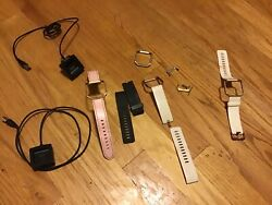 Fitbit Blaze 2 Chargers Docks and 3 Bands Lot