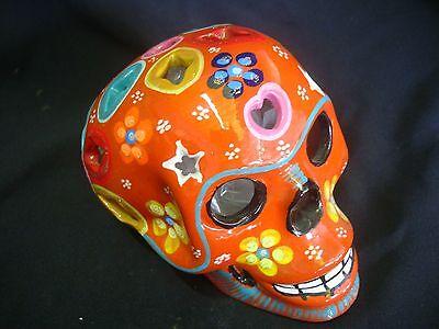 Dia de los Muertos, Day of the dead Sugar skull, Lamp, art,  talavera, catrina,