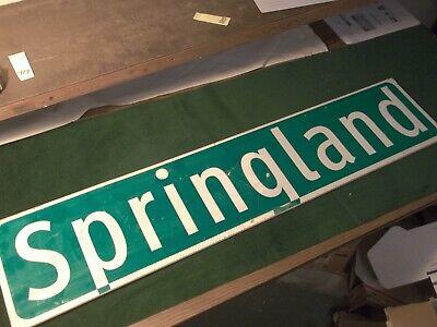 """LARGE ORIGINAL S MICHIGAN AV STREET SIGN 54/"""" X 9/"""" WHITE LETTERING ON GREEN"""