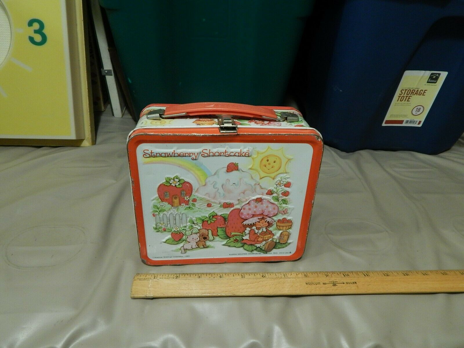 Strawberry Shortcake 1980 Aladdin Brand Lunchbox W/ Thermos Vtg Retro Ltd  - $29.99