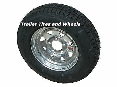 "*2* KL 175/80D13 LRC 6 PR Bias Trailer Tire on 13"" 5 Lug Galvanized Steel Wheel"