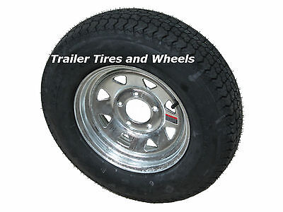 "KL 175/80D13 LRC 6 PR Bias Trailer Tire on 13"" 5 Lug Galvanized Steel Wheel"