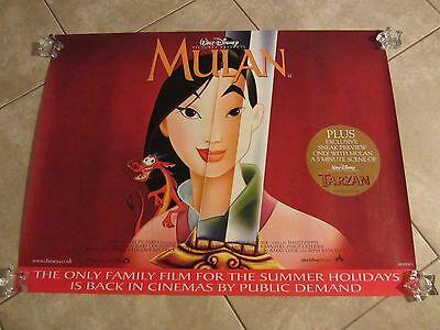 Walt Disney's Mulan movie poster - 30 x 40 inches - original UK poster