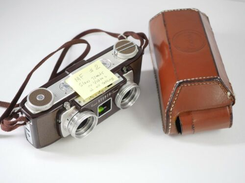 KODAK Stereo camera nice condition w/case but slow shutter speeds - MF