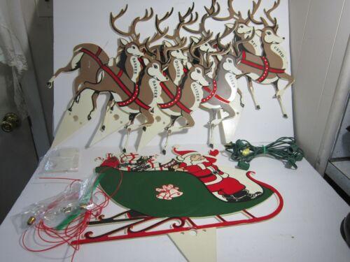 Vintage Santa with Reindeer Lawn Ornament