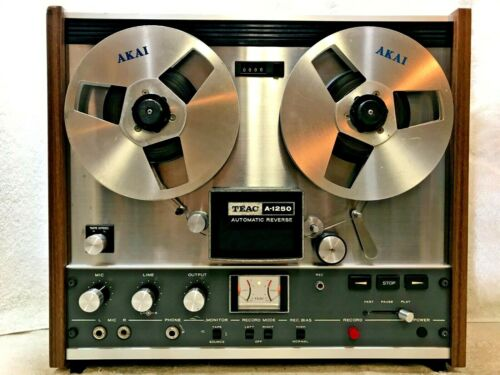 TEAC A-1250 AUTO-REVERSE STEREO TAPE DECK REEL-TO-REEL - EXCELLENT - SEE VIDEO