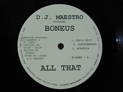 DJ Maestro ft Boneus 12 in single All That bw Lets Get Kronk no label house