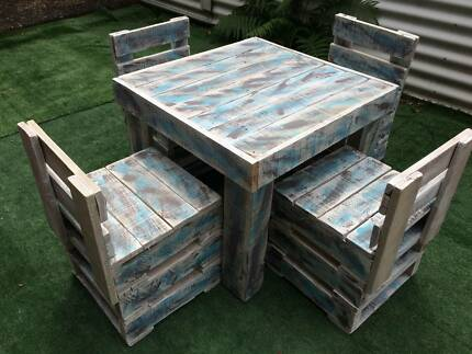 Childrens Outdoor Table Chairs New Wooden Recycled Pallets Garden