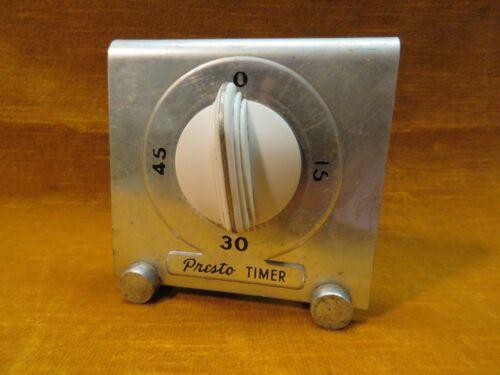 Vintage Aluminum Presto Timer, National Pressure Cooker Co, Works