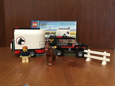 LEGO City Farm 7635 4WD with Horse Trailer 100% complete w manual and minifigs