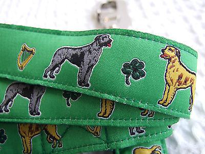 Irish Wolfhound Leash - IRISH WOLFHOUND BREED SPECIFIC DESIGN RIBBON DOG COLLARS or LEADS LEASH