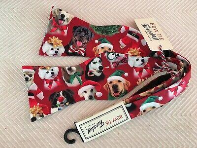 Men's Bow Tie NWT Crazy Dogs Santa Hats Multi Breed  Novelty CUTE!](Crazy Santa Hats)