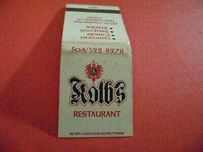 "1- Match Book, ""KOLB'S RESTAURANT"", New Orleans, LA., complete, (Shows Age)"
