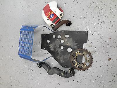 2006 Polaris Trail Boss 330 radiator sprocket guard grill skid plate duct pipe