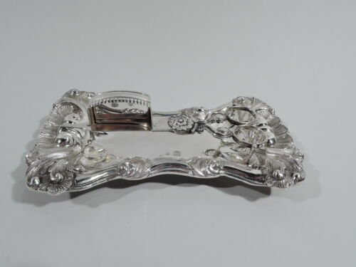 Antique Candle Snuffer Stand Biedermeier Rococo Austrian Silver 1827/47