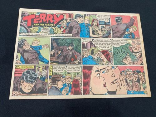 #35 TERRY AND THE PIRATES by George Wunder  Lot of 5 Sunday Comic Strips 1966