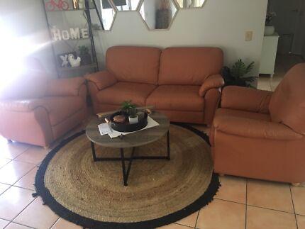 3 peice leather lounge