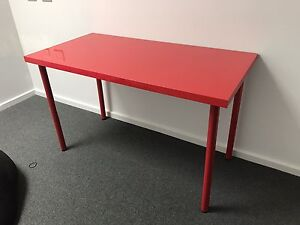 IKEA RED STUDY TABLE Woodville Gardens Port Adelaide Area Preview