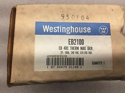 New In Box Westinghouse 100amp 2pole 240vac 125250vdc Breaker Eb2100