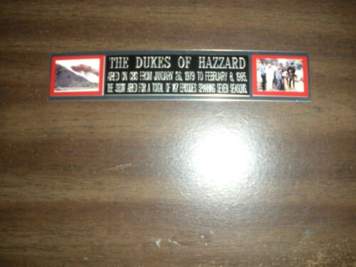 """""""the Dukes Of Hazzard"""" (tv) Engraved Nameplate For Photo/display/poster"""