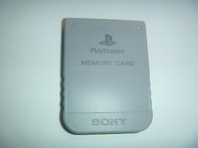 Official OEM Sony Playstation 1 PS1 PSOne Memory Card 1MB SCPH-1020 Gray