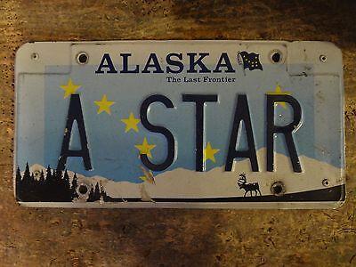 Alaska License Plate - A STAR -