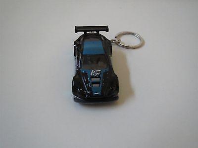 ASTON MARTIN VANTAGE GT3 DIECAST MODEL TOY CAR KEYCHAIN KEYRING NEW BLACK W BLUE