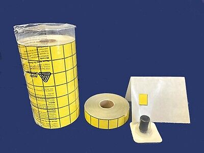 Yellow Labels For 1136 1138 Monarch Labelers 8 Rolls 1 Inker