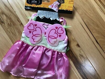 NWT FAIRY COSTUME 2 Pc HALLOWEEN Costume Sz Small Dog Dress & Headpiece (Fairy Halloween Costumes For Dogs)
