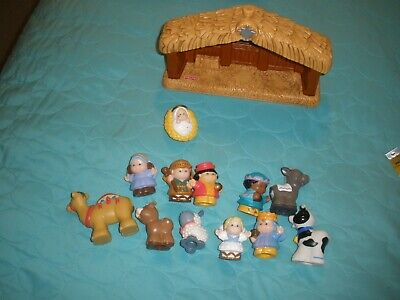 Fisher Price little People Nativity Scene 2001 Child Toddler Christmas Decor Set
